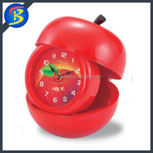 2015 Promotion Gift Apple Shaped Table Alarm Photo Frame Table Clock