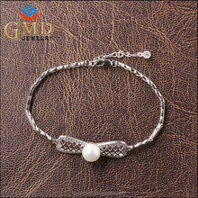 Fashion jewelry shenzhen personalized beautiful women 925 sterling silver kandi bracelets