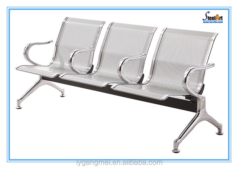 Public waiting room cheap steel 3 seater airport chair