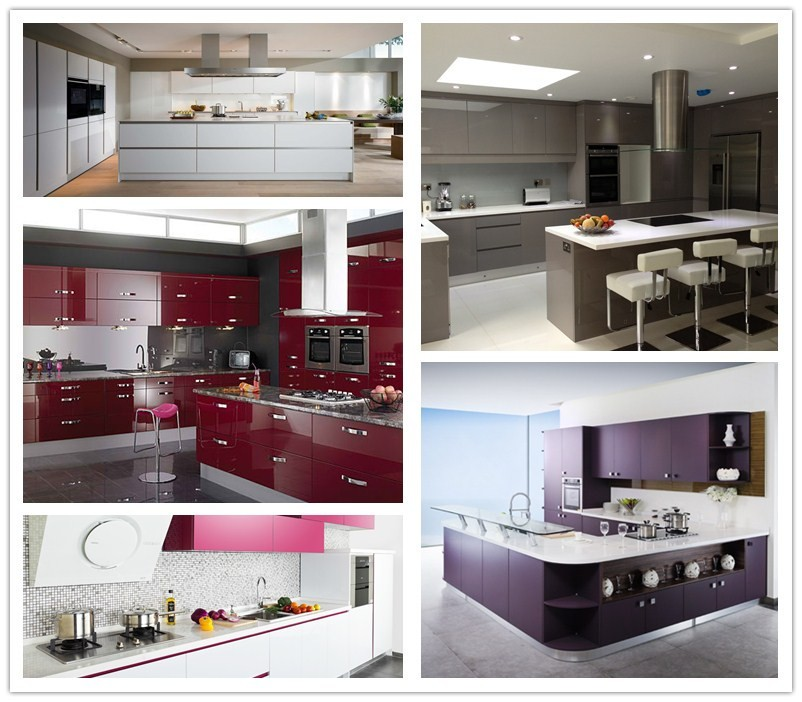 2017 Two Pack Modern Kitchen Cabinets China Factory