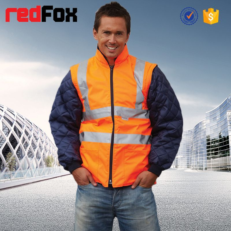 High quality safety reflective men jacket