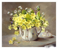 Yellow Flower Canvas Painting Art 100% Handmade Oil Painting
