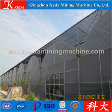 Large Multi Span Double Layer Film Plastic Aluminum Frame Agricultural Greenhouse
