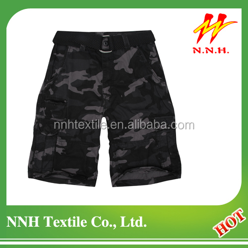 men's classical camouflage printing cargo shorts with belt