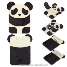 Black Color 7.9 inch Wool Felt Tablet Case Cute Cartoon Panda Bag Tablet Sleeve Tablet Pouch