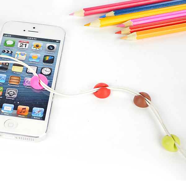 Boomray wholesale small and exquisite TPR colourful earphone silicone wire clips/holder/organizer