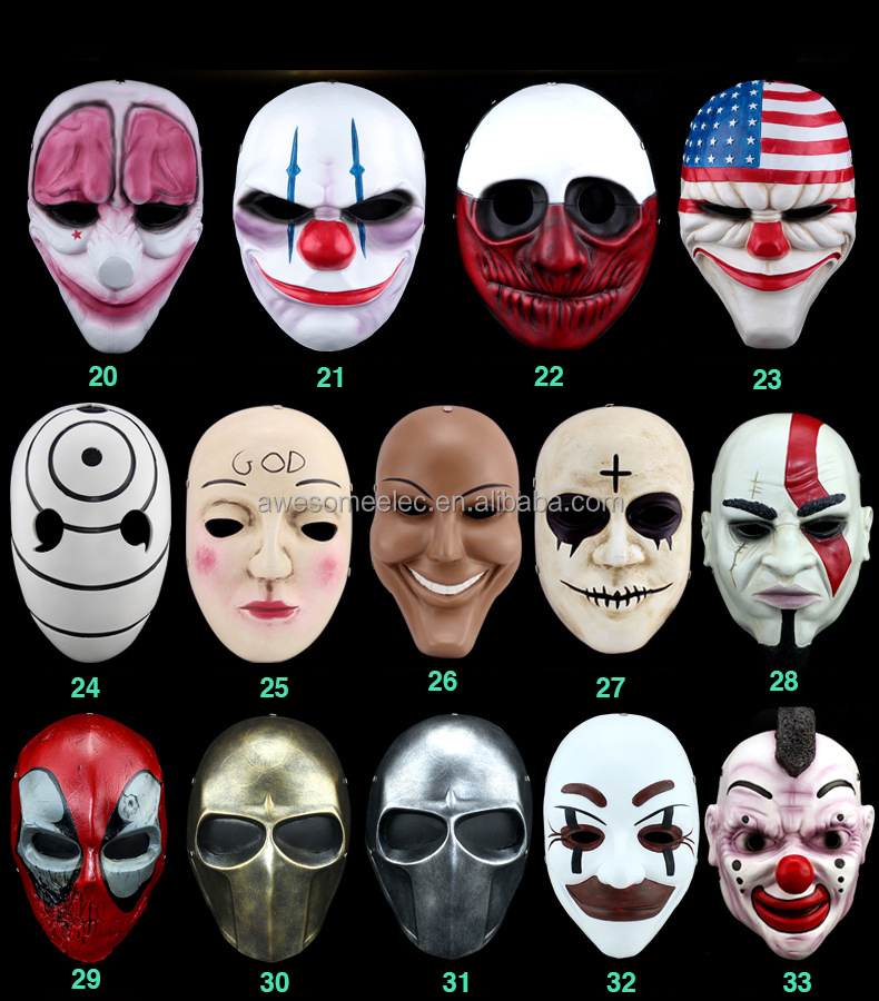 Wholesale Cheap party mask festival Resin Halloween mask