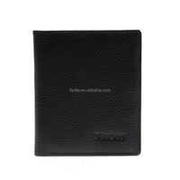 CW968-001 Hot Selling purse Promotion Men Black genuine Leather Wallet