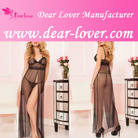 2016 Latest latex sexy seeams sleepwear women evening gown