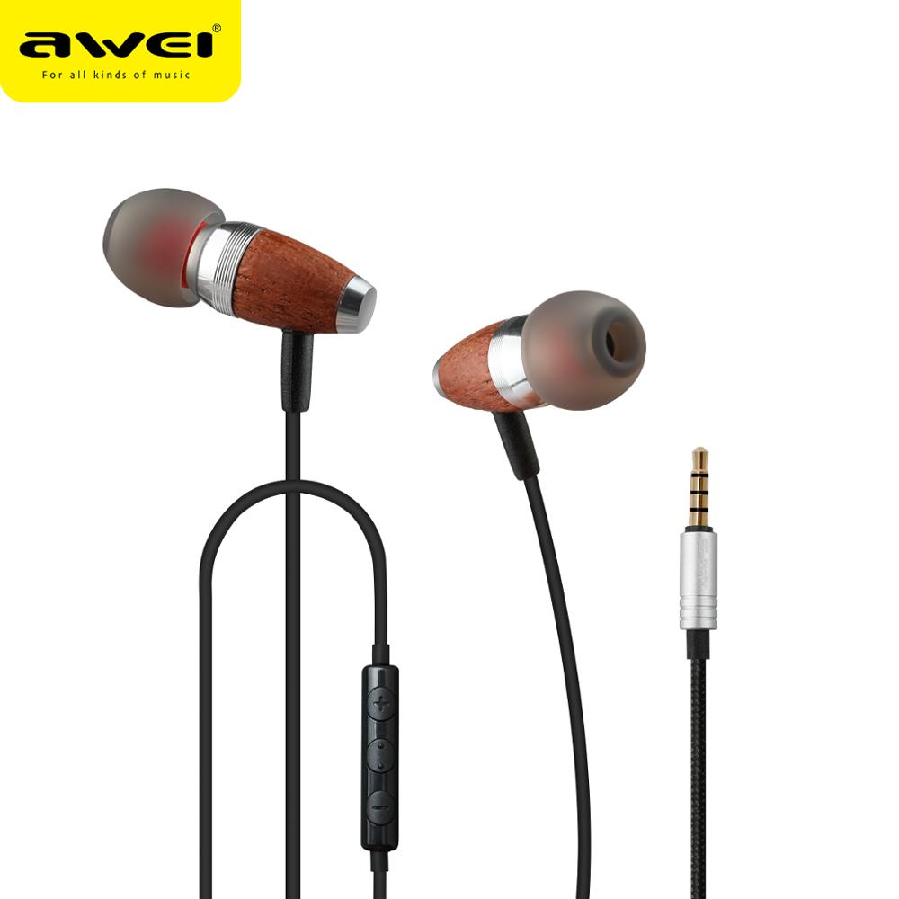 AWEI ES-60TY high quality invisible ear phones earphone for smartphones with CE/ROHS/FCC certificates