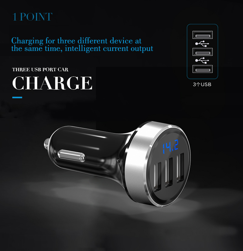 GXYKIT Colorful mini mobile phone car charger,mini usb charger for iphone/samsung