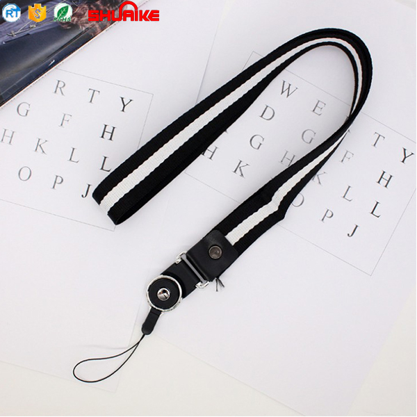 Fashion Woven Nylon Neck Lanyard Wrist Hand Strap For Exhibitions And Keychains