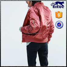 New Fashion Women Plain Satin quilted Jacket,100%nylon Shell Material and OEM Service Supply Type High Quality Bomber Jacket