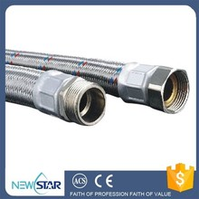 High temperature flexible metal hose for water heater