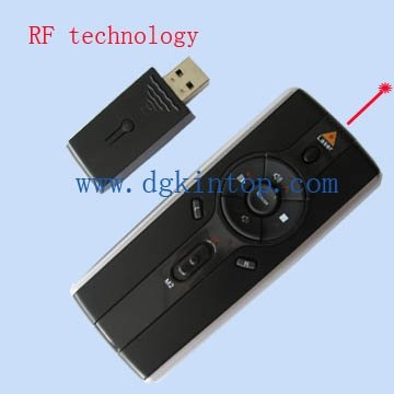 Multimedia player wireless laser presenter / laser pointer with mouse function