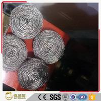 Kitchen dish washing silver color galvanized metal mesh scourers for sale