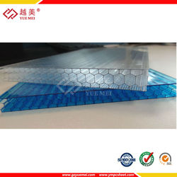 Grade A quality, polycarbonate honeycomb, Celluar Polycarbonate Panels