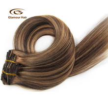 Factory Wholesale80g 100g 150g 200g Clip In Hair Extensions Brazilian Weave