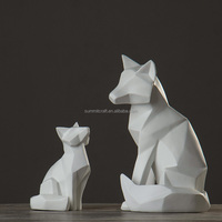 Modern abstract white animal home decoration items