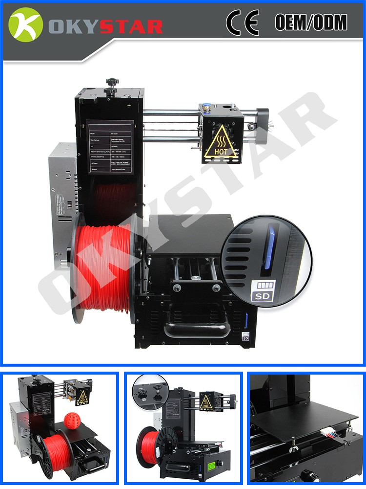 Latest Assembled Acrylic ME DUCER Desktop DIY 3D Printer Extruder ,High Accuracy Printing Prusa Printer build your own 3d print