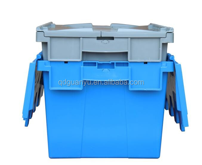 Nesting plastic moving storage box for logistic and industry