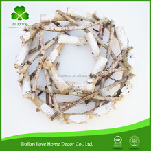 50cm natural wood stick birch wreath african masks decor christmas led light