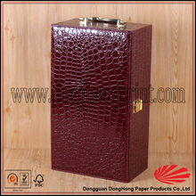 Free samples leather wine gift box 750ml bottle wine box