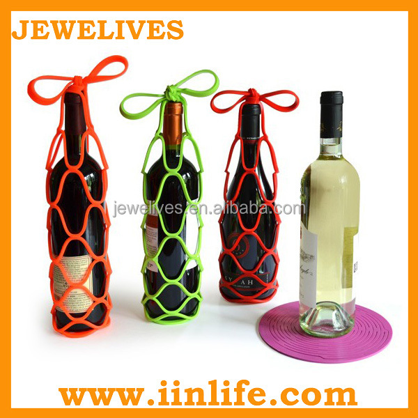 Silicone wine bottle holder, decorative wine bottle holders, funny wine bottle holder