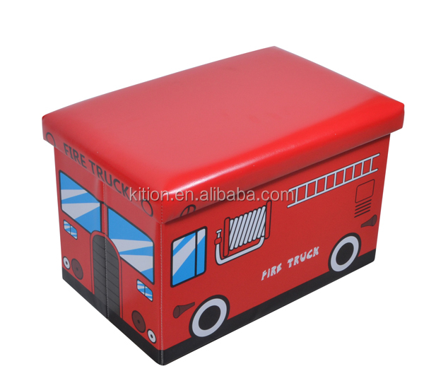 Bus stop bench folding storage ottoman/stool/chair