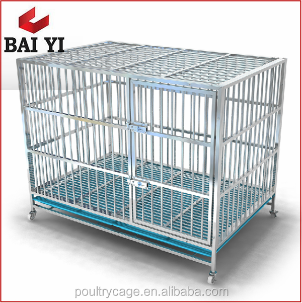 Wholesale In Stock New Design Galvanized Folding Metal Stainless Steel Dog Crates