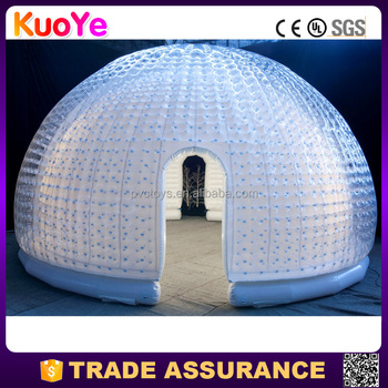 new design durable inflatable dome tent