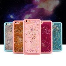 2016 New design Bling Glitter Star Quicksand Hard PC Cover mobile phone case for iphone 6