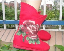 Monroo The latest ladies boots , quality fashion female boots increased within the embroidered shoes boots