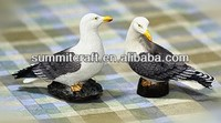 Mediterranean style resin seagulls love couple seagull craft for sale wedding decoration