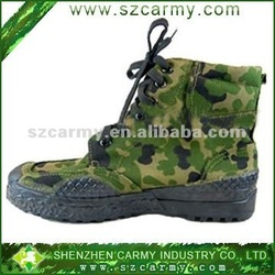 military outdoor camouflage canvas shoes/high quality low cut army military training shoes