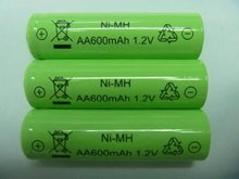 xxl power life rechargeable nimh aa 600mah 1.2v battery with button top or flat top