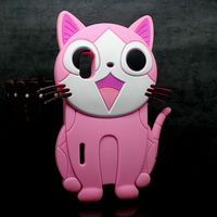 Cute 3D cartoon cat silicon case for LG Optimus Black P970