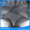 Pure Black Polished surface high quality natural stone marble tile
