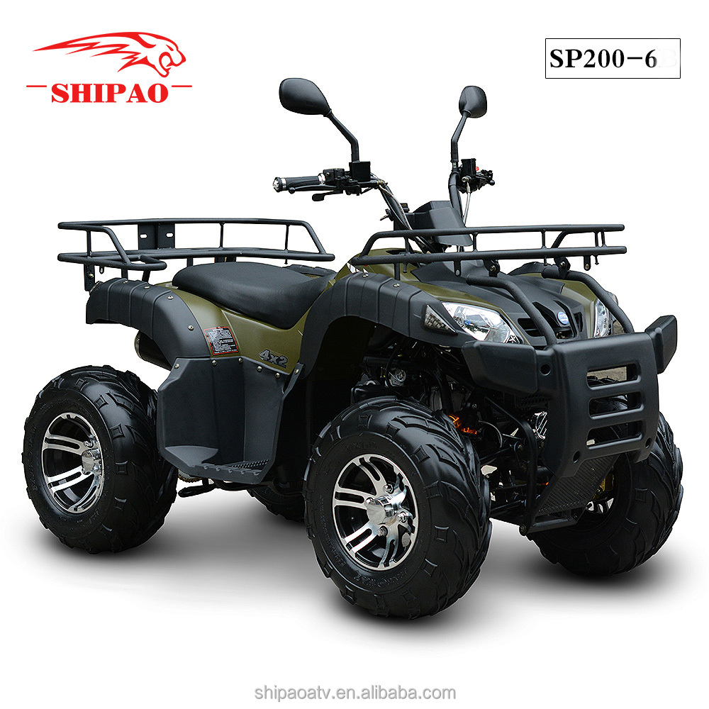 SP200-6 Shipao 4 wheel atv quad bike cheap 200c ATV