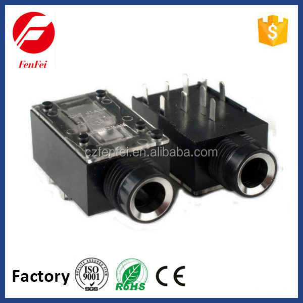 HOTSALE audio adapter and connector, 3.5mm stereo jack closed circuit for mobile phone