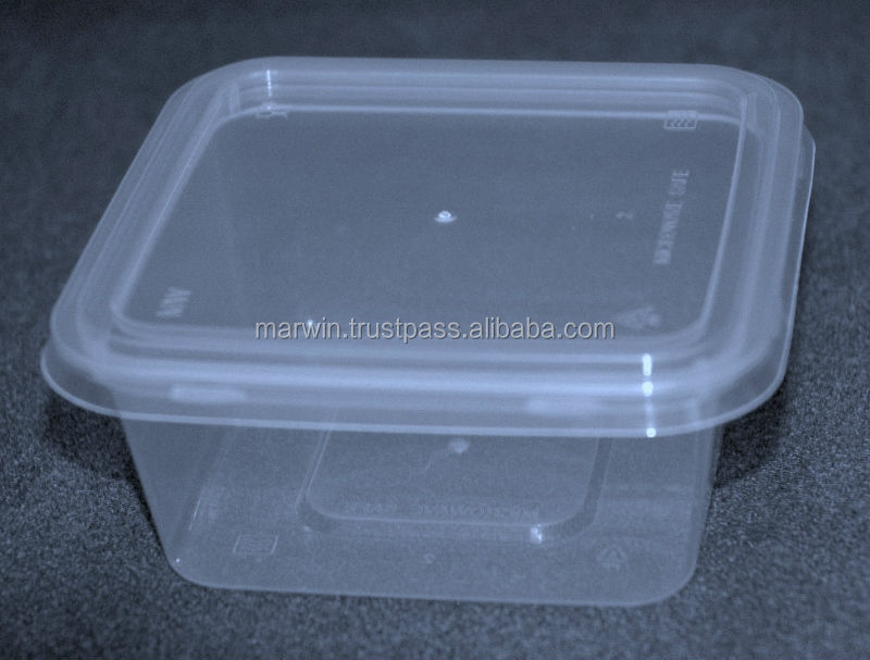 Disposable square microwave food container
