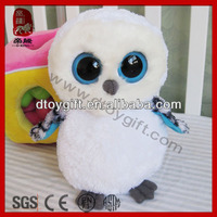 Big eyes series animals soft cute birds white plush owl toys