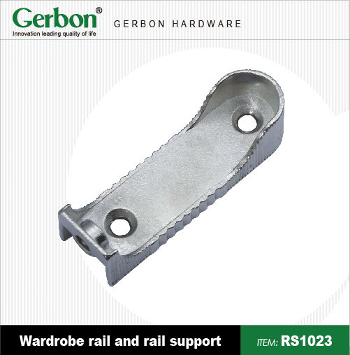 Wardrobe Rail Support With Retaining Screw