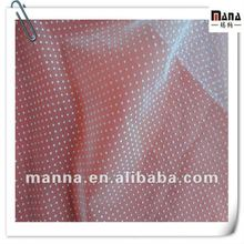 Pure mesh fabric polka dot white flock dresses for dresses