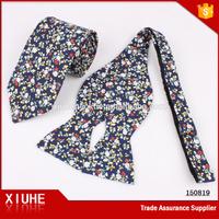 Cotton floral skinny tie neckwear