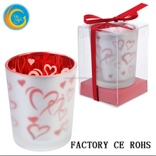 Heart Glass Candle Holders Votive Tea Light / Glass Candle Jar /Valentine's Day Candle Gift 100% product quality protection