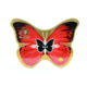 vintage butterfly-shaped tin can for cosmetic or tea packing