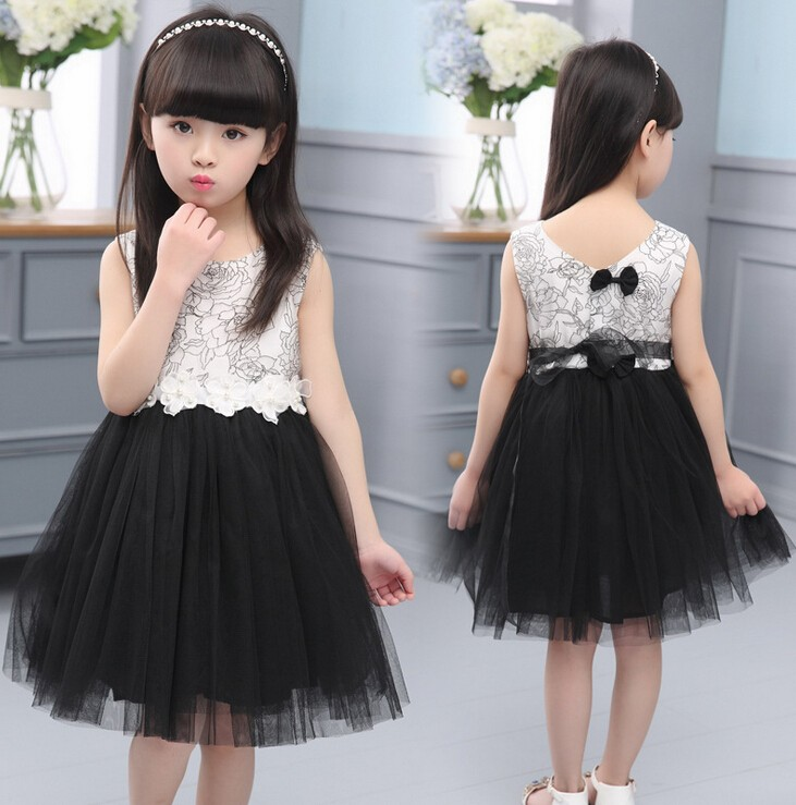 1966 2016 New Style Lace Flower Organza Puffy Princess Dress