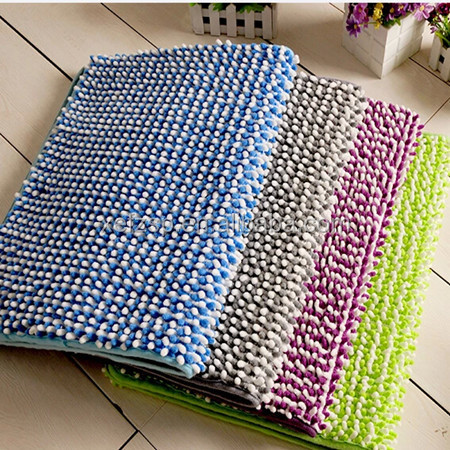 100% polyester decorative waterproof bath rugs