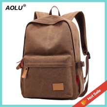 2017 Latest leisure canvas school bag travel backpack for unisex